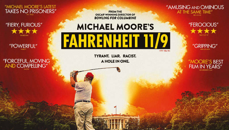 Fahrenheit 11/9 showing at Queen's Film Theatre, Belfast.